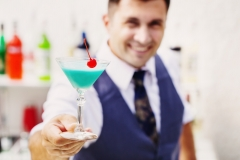 bartender with a cocktail drink