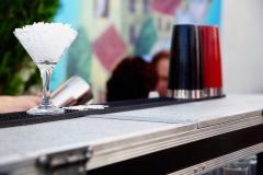 bartender cooling glasses for cocktail